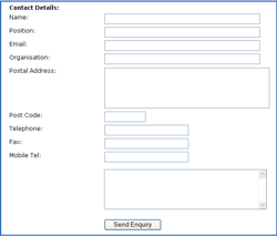 Insert a form in your website